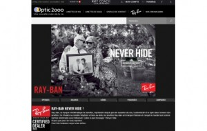 Vente en ligne : le site d'Optic 2000 accueille le 1er « e-corner » officiel Ray-Ban