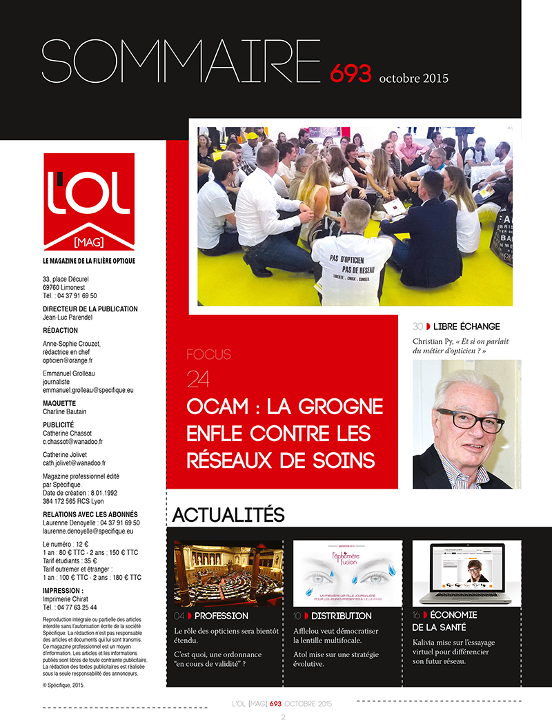 Le magazine L'OL Mag sommaire page 1