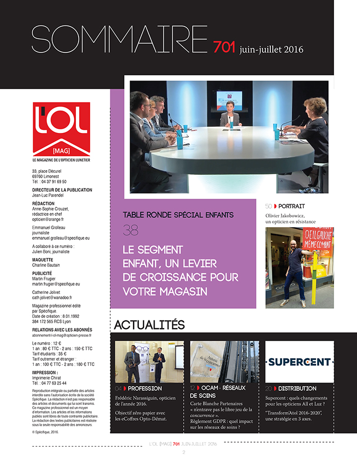 L'OL Mag n°701 - sommaire page 1