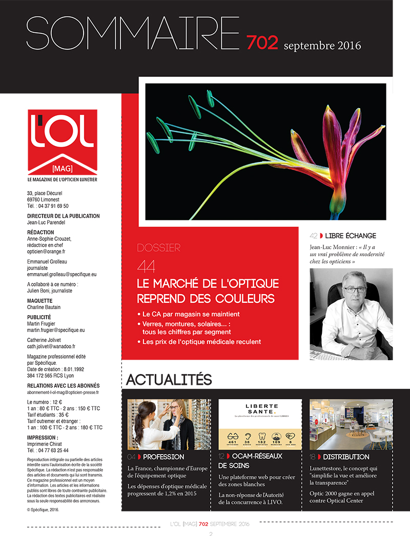 L'OL MAG n°702 sommaire page 1