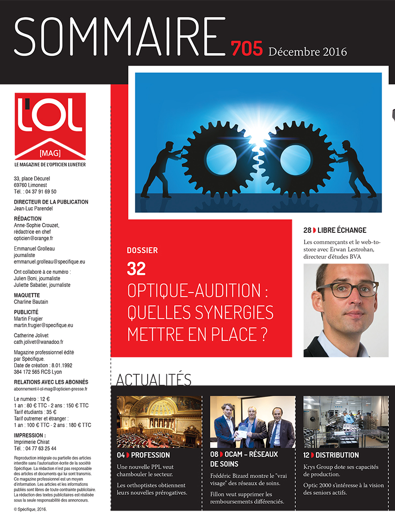L'OL Mag 705 -sommaire page 1