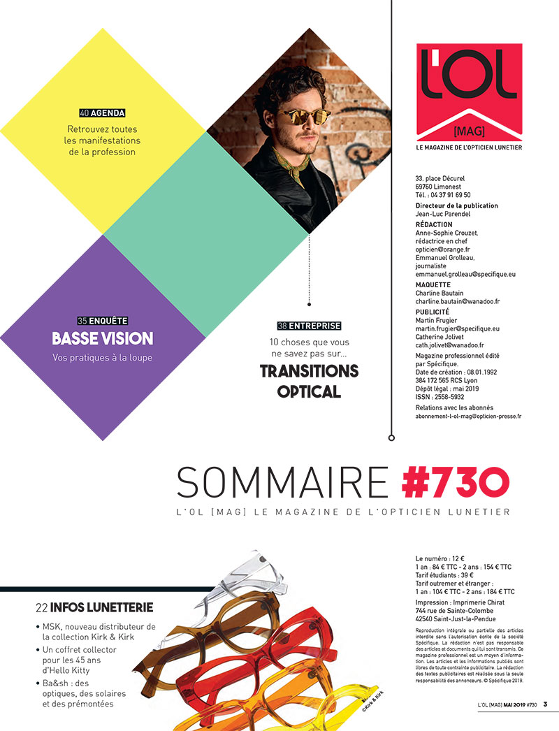 L'OL MAG n°730-Mai 2019 - Sommaire 2